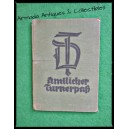 1935 German Women Sport Certificate Triathlon and Sport Empty ID Book
