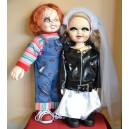 "CHUCKY Good Guys 25"" & TIFFANY 24"" Bride of Chucky Plush Dolls with Knives The Bride of Chucky"