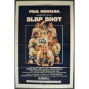 SLAP SHOT Original 1977 Hockey Comedy Movie Poster with Paul Newman Slapshot