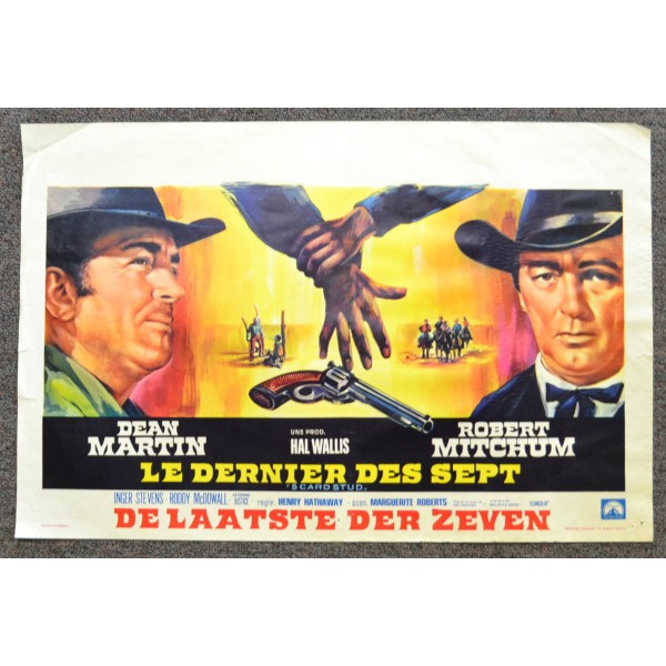 Five Cars Stud 1968 Vintage Original Belgian Movie Poster Dean Martin