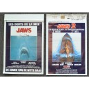RARE JAWS (1975) and JAWS 2 (1978) Original Belgian Movie Film Posters