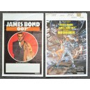 James Bond 007 Moonracker Original Belgian Movie Film Posters 1970-1979 Lot of 2
